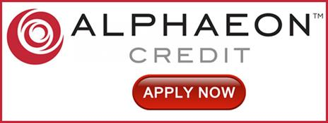 Alphaeon Credit Logo With Apply Now Action Button