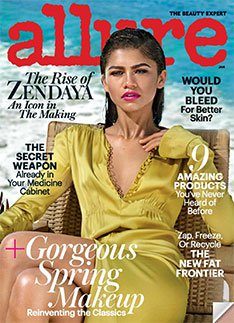 allure magazine with zendaya on the cover