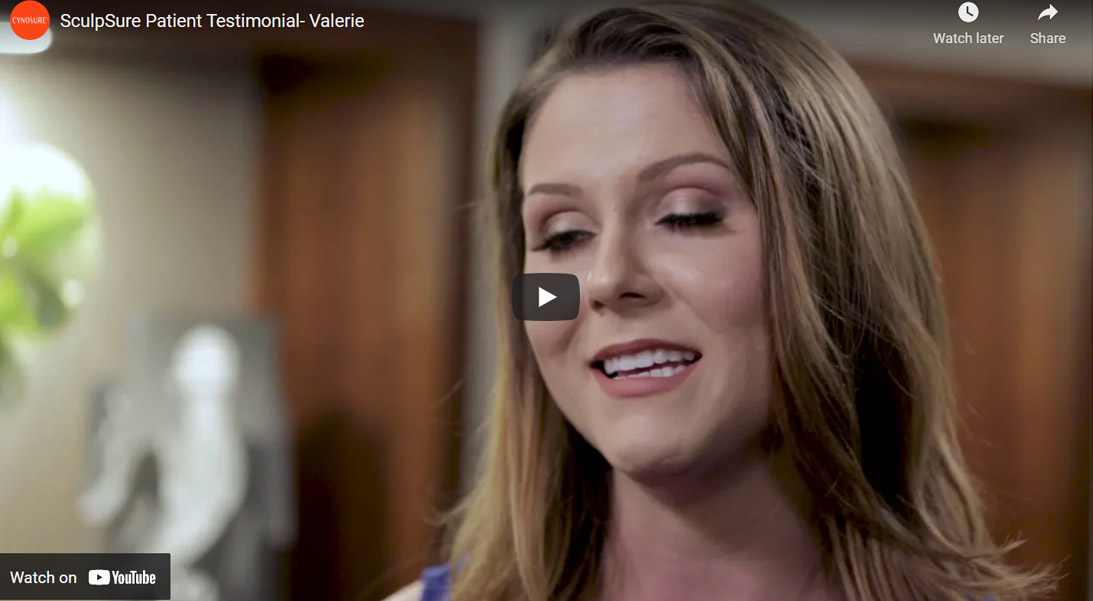 Image of SculpSure Patient Testimonial- Valerie Click to See Video